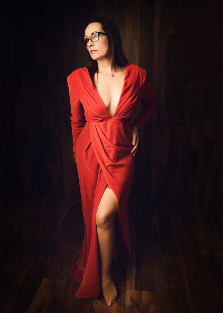 maddy rogers self portrait red dress sexy posing glamour glmaourous