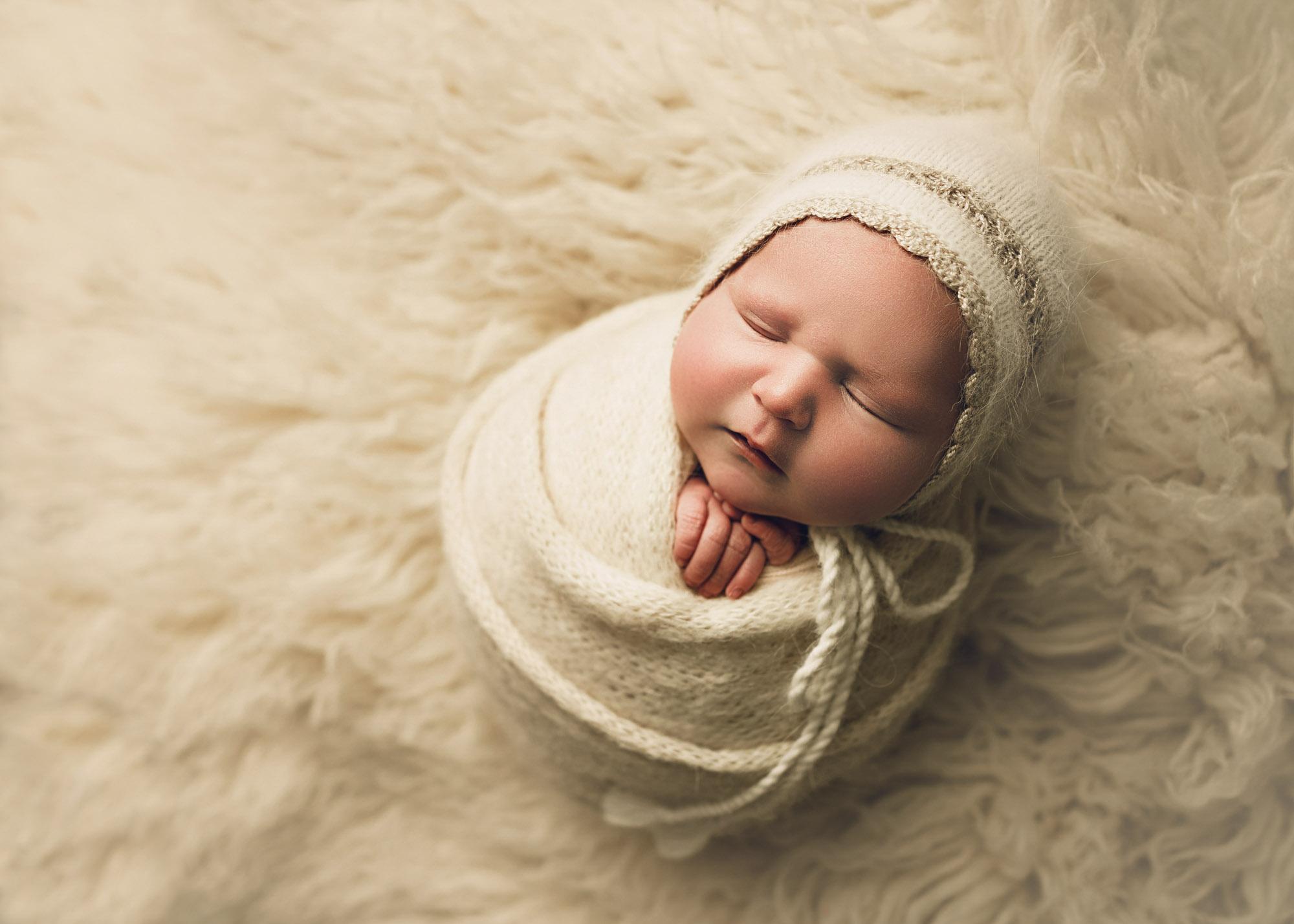 potato sack wrap newborn